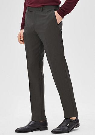 Slim: gemêleerde business pantalon