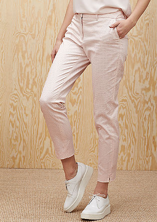 Slim: Gemusterte Stretch-Hose
