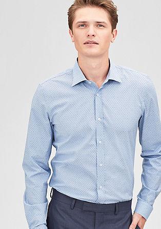 Slim: Gemustertes Stretch-Hemd