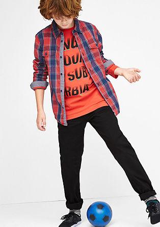 Slim: geruit overhemd met borstzakken