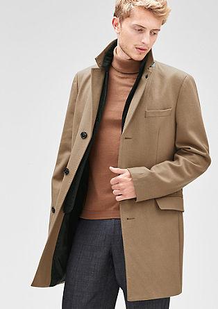 Slim: Gevoerde wollen mantel