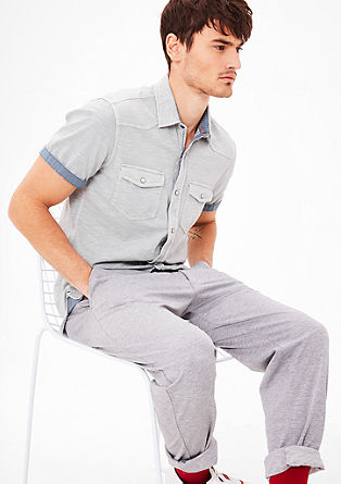 Slim: Hemd aus Jersey