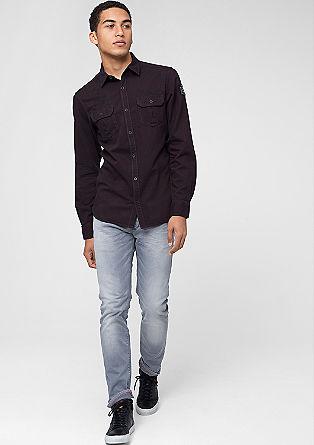 Slim: Hemd mit Artworks