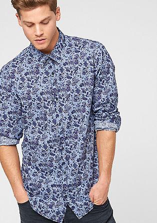 Slim: Hemd mit Blumenmuster