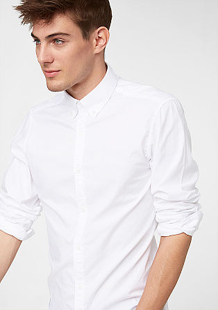 Slim: Hemd mit Button-Down-Kragen