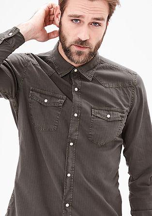 Slim: Hemd mit Druckknopfleiste