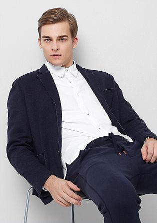 Slim: Hemd mit Ellbogen-Patches