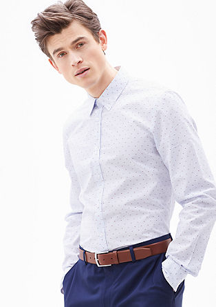 Slim: Hemd mit Farbakzenten