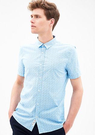 Slim: Hemd mit floralem Muster