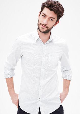 Slim: Hemd mit Inside-Printmuster