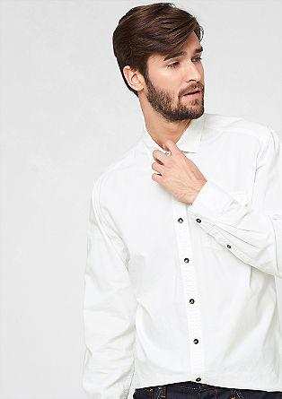 Slim: Hemd mit Kontrast-Knöpfen