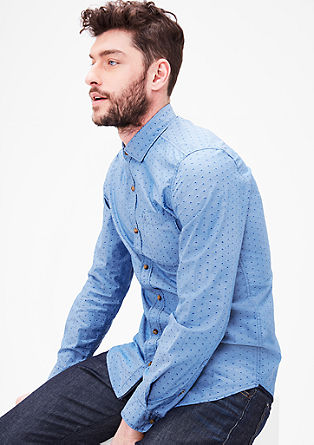 Slim: Hemd mit Musterstruktur