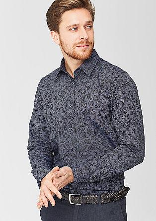 Slim: Hemd mit Paisley-Muster