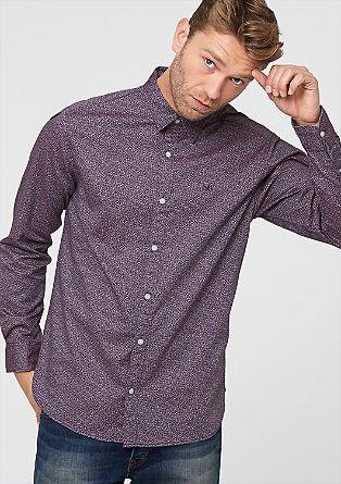 Slim: Hemd mit Retro-Muster