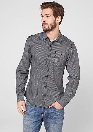 Slim: Hemd mit schmalen Streifen