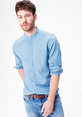 Slim: Hemd mit Strukturmuster