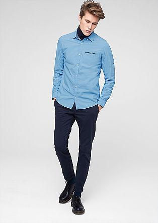 Slim: Hemd mit Turn-up-Ärmeln