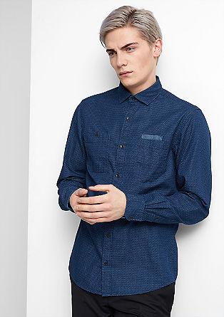 Slim: Hemd mit Waben-Muster