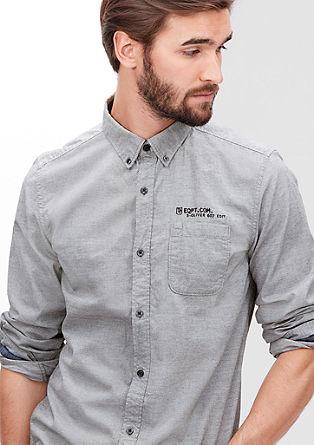 Slim: Hemd mit Zickzack-Muster