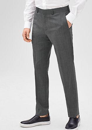 Slim: hlače iz strižne volne s strečem