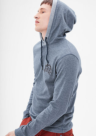 Slim: hooded top with ties from s.Oliver