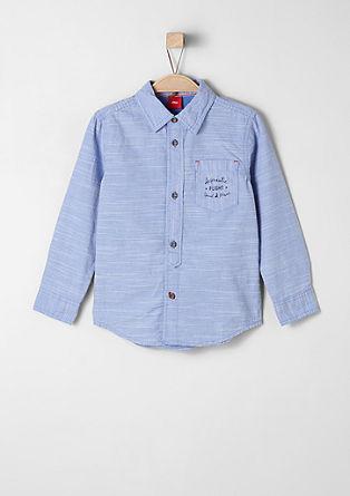 Slim: horizontaal gestreept overhemd