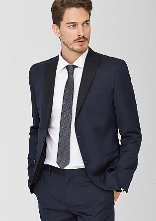 Slim: jacket with a contrasting lapel from s.Oliver