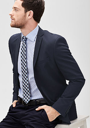 Slim: jacket with a fine woven texture from s.Oliver