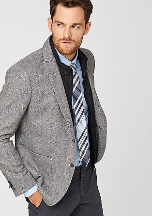 Slim: jacket with a gilet insert from s.Oliver
