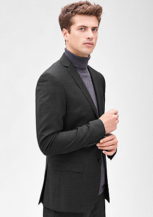 Slim: Jacket with houndstooth from s.Oliver