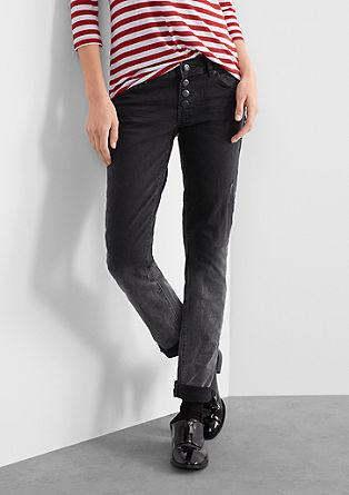 Slim: Jeans hlače z obrnjenim učinkom Dip Dye