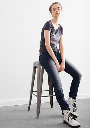 Slim: Jeans mit Effekt-Färbung