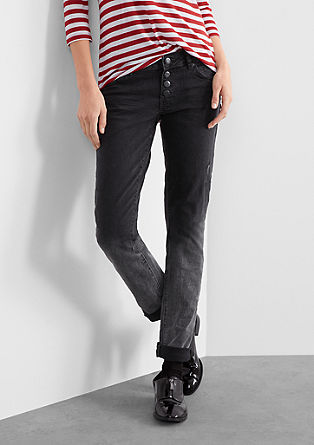 Slim: Jeans mit Reverse Dip Dye