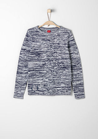 Slim: jumper with a contrasting texture from s.Oliver
