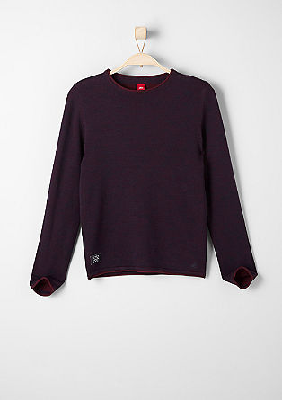 Slim: jumper with a pale inner surface from s.Oliver