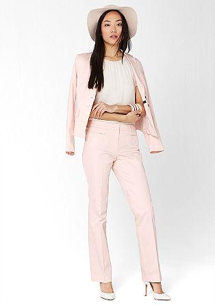 Slim: kalhoty z bavlněného saténu