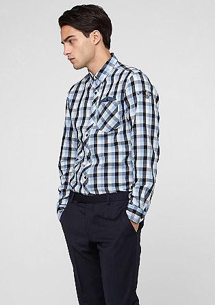 Slim: Kariertes Freizeithemd