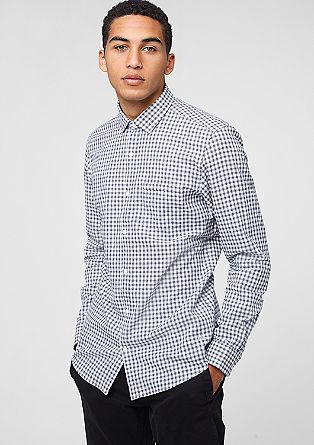 Slim: karirasta bombažna srajca