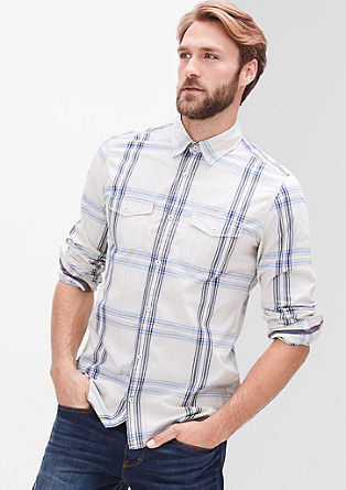 Slim: karirasta srajca s spranim učinkom