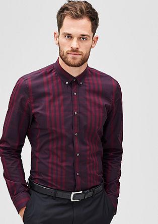 Slim: karirasta srajca z ovratnikom na gumb