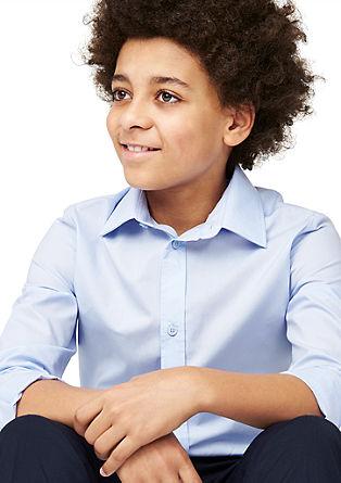 Slim: klassiek overhemd van katoen