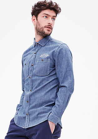 Slim: Leichtes Denim-Hemd
