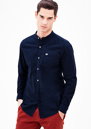 Slim: lightweight shirt with a stand-up collar from s.Oliver