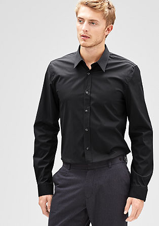 Slim: Long-sleeved stretch shirt from s.Oliver