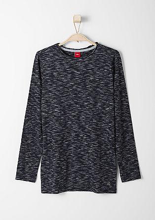 Slim: Longshirt aus Flammgarn