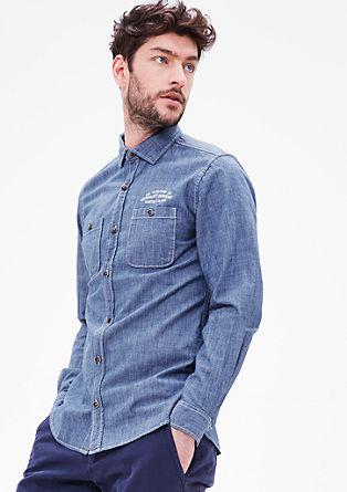 Slim: luchtig denim shirt