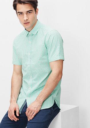 Slim: Maritimes Streifenhemd