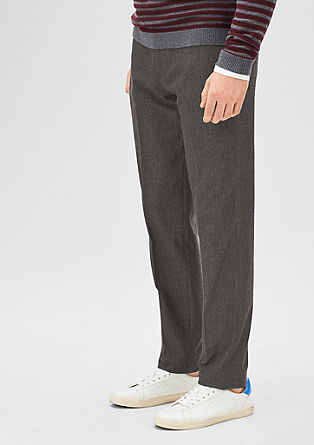 Slim: melange business trousers from s.Oliver