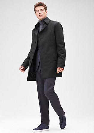 Slim: moden kratek volnen plašč
