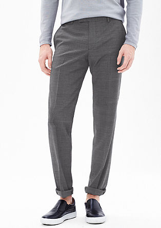 Slim: mottled business trousers from s.Oliver